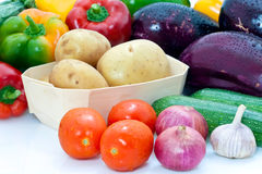 Assortment of fresh vegetables Stock Images