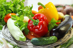 Assortment of fresh vegetables Stock Photo
