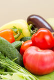 Assortment of fresh vegetables Stock Photos