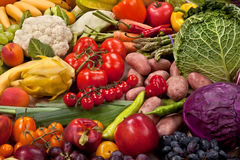 Assortment of fresh vegetables as a background Royalty Free Stock Photos