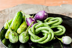 Assortment of fresh vegetables close up Royalty Free Stock Photo
