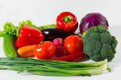 Assortment of fresh vegetables close up. royalty free stock images