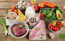 Assortment of Fresh Vegetables and Meats for Healthy Diet Royalty Free Stock Photo