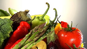 Assortment of fresh vegetables. Rotate in frame stock video