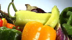 Assortment of fresh vegetables stock video footage