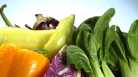 Assortment of fresh vegetables stock footage