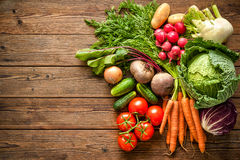 Assortment of the fresh vegetables Stock Image