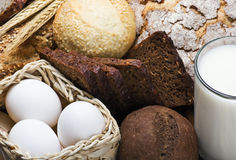 Assortment of freshly baked bread Royalty Free Stock Photo