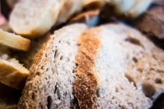 An assortment of freshly baked breads. Stock Photography