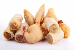 Assortment of fritters Stock Photos