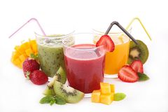 Assortment of fruit juice Stock Photography