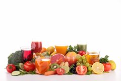 Assortment of fruit juice Stock Photo