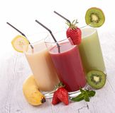 Assortment of fruit juice Royalty Free Stock Images