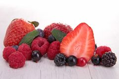 Assortment of fruits. Close up on assortment of fruits Royalty Free Stock Images