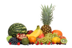 Assortment of fruits and berries () Royalty Free Stock Photos
