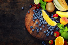 Assortment of fruits Stock Photos