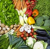 Assortment of fruits and vegetables Royalty Free Stock Photo
