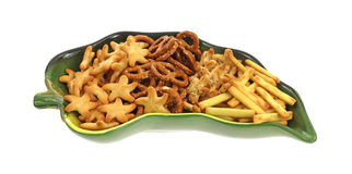 Assortment Generic Snack Crackers Dish Stock Image