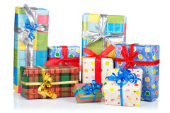 Assortment of gift boxes Royalty Free Stock Photos