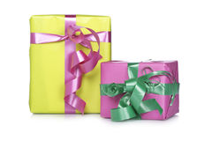 Assortment of gift boxes Royalty Free Stock Image