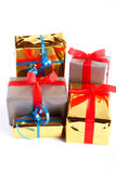 Assortment of gift boxes Royalty Free Stock Images