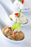 Assortment of greek dips Royalty Free Stock Image