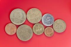 Assortment of Greek drachma coins. Stock Photo