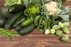 Assortment of green vegetables Stock Images