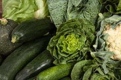 Assortment of green vegetables Stock Photography