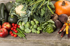 Assortment of green vegetables Royalty Free Stock Photo