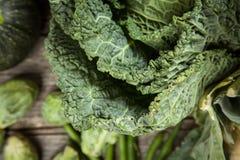 Assortment of green vegetables Stock Photos