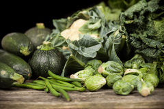 Assortment of green vegetables Royalty Free Stock Image