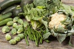 Assortment of green vegetables Stock Image