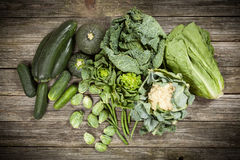 Assortment of green vegetables Stock Photo