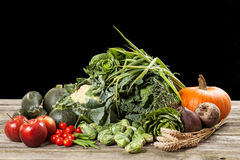 Assortment of green vegetables Stock Photos