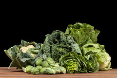Assortment of green vegetables Stock Photo