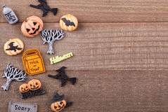 Assortment of Halloween Decorations Stock Image