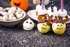 Assortment of Halloween treat for party stock photo
