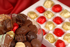 Assortment of hand dipped chocolates Stock Image