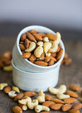 An assortment of healthy nuts in a bowl Stock Image