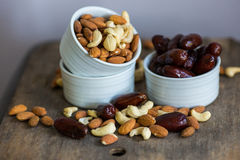 An assortment of healthy nuts in a bowl Royalty Free Stock Photography