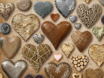 Assortment of heart shaped things Royalty Free Stock Image