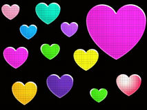 Assortment Of Hearts Royalty Free Stock Images