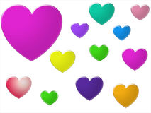 Assortment Of Hearts Royalty Free Stock Image