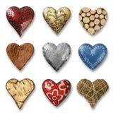 Assortment of hearts Stock Photo
