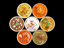 Assortment of indian dishes on Stock Photo
