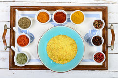 Assortment of Indian spices Stock Photo