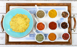 Assortment of Indian spices Royalty Free Stock Photos