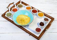 Assortment of Indian spices Stock Images