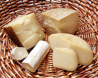 Assortment of Italian cheeses Stock Photo